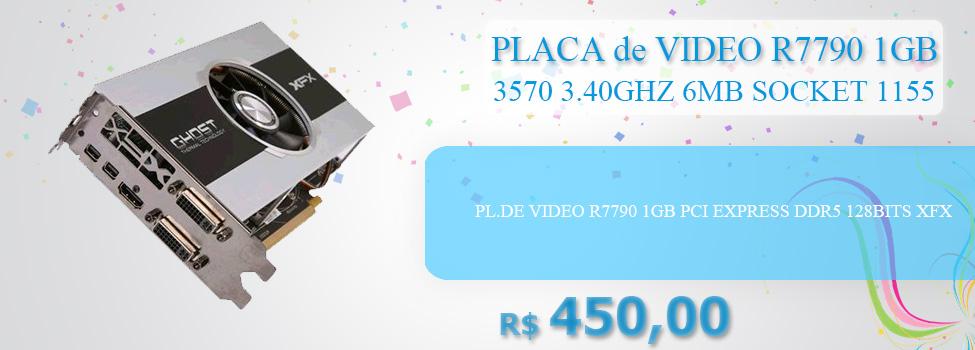 PL.DE VIDEO R7790 1GB PCI EXPRESS DDR5 128BITS XFX