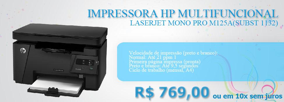 IMPRESSORA HP MULTIFUNCIONAL LASERJET MONO PRO M125A