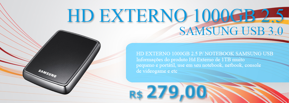 HD EXTERNO 1000GB 2.5 SAMSUNG USB 3.0 (USB)