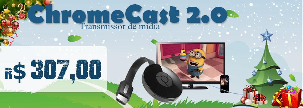 GOOGLE CHROMECAST TRANSMISSOR DE MIDIA 2.0