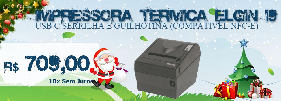 IMPRESSORA TERMICA ELGIN I9 USB C SERRILHA E GUILHOTINA (COMPATI