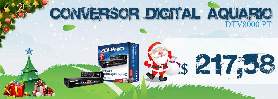CONVERSOR DIGITAL AQUARIO DTV8000 PT