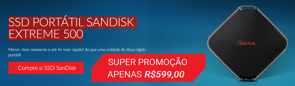Promo��o HD SOLIDO SSD 240GB SANDISK EXTERNO PRO EXTREME