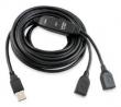 CABO EXTENSOR USB COMTAC COM AMPLIF. DE SINAL I MACHO X 2FEMEAS 10M 9192