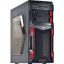 GABINETE GAMER VINIK TYPHOON 2 BAIAS PRETO/VERMELHO USB 2.0 LAT. ACRILICO S/FONTE