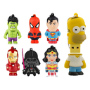 PENDRIVE 8GB MULTILASER PERSONAGENS (SIMPSONS/MARVEL/STAR WARS/MINIONS)