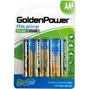 PILHA ALCALINA GOLDEN POWER PEQUENA AA C/4