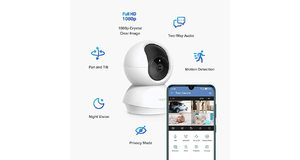 CAMERA DE SEGURANCA WIRELESS TP-LINK 360O 1080P VISAO NOTURNA TAPO C200 C/AUDIO BIDIRECIONAL