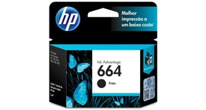 CARTUCHO HP 664 PRETO 2 ML F6V29AB