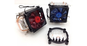 COOLER FAN GAMER C/LUZ P/CPU AMD E INTEL DX-9000