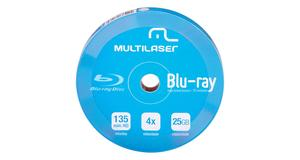 BLURAY MULTILASER BLU-RAY PRINT BRANCO 25GB