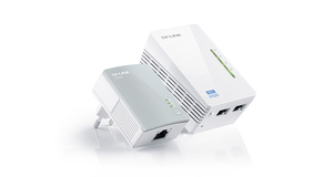 EXTENSOR POWER LINE TP-LINK KIT C/2 WIFI 300MPBS AV 500MPBS 300MTSTL-WPA4220KIT