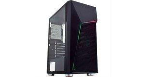 GABINETE GAMER K-MEX CG-XXC1 STRIFE II FRONTAL FITA LED USB 3.0/2.0 LATERAL FULL ACRILICO S/FONTE