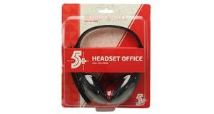 HEADFONE COM MICROFONE 5+ OFFICE PRETO 015-0056