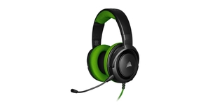 HEADFONE GAMER CORSAIR COM FIO HS35 STEREO GREEN