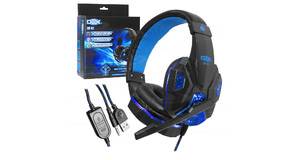 HEADFONE C/ MICROFONE GAMER DEX DF-81 LED USB+P2