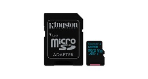 MEMORY CARD SD KINGSTON 128GB CANVAS GO MICRO SDXC V30 4K