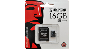 MEMORY CARD MICRO SD 16.0GB KINGSTON ADAP SD CLASSE 04