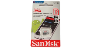 MEMORY CARD MICRO SD 16.0GB SANDISK ULTRA CLASSE 10