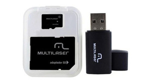 MEMORY CARD +MICRO SD 64.0GB MULTILASER CLASSE 10+ADAPTADOR SD ( TIPO PENDRIVE)MC115