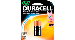 PILHAS ALCALINAS DURACELL AAA C/2