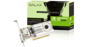 PLACA DE VIDEO GALAX GEFORCE GT 1030 2GB DDR4 64 BITS DVI/HDMI - 30NPK4HVQ4BG