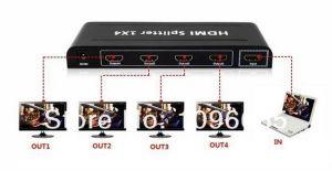 SWITCH HDMI SPLITER DIVISOR 1X4 1 ENTRADA 4 SAIDAS 1.4