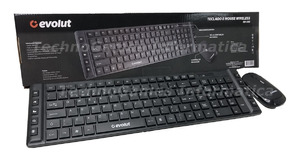 TECLADO E MOUSE EVOLUT WIRELESS EO-503 PRETO