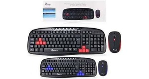 TECLADO E MOUSE WIRELESS KNUP 2028