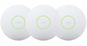 WIRELESS A P UBIQUITI UNIFI LONG RANGE  300MBPS PACK C/3