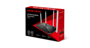 WIRELESS ROTEADOR MERCUSYS DUAL BAND 2.4/5GHZ  4 ANTENAS FIXAS  AC1200 AC12G GIGABIT
